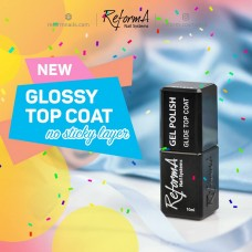 ReformA Gel Polish GLIDE TOP Coat - NO WIPE!!! 10 ml.